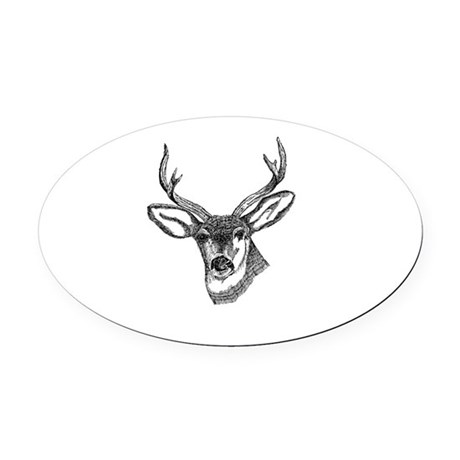 3-deer7.png Oval Car Magnet