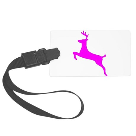 leaping deer Large Luggage Tag