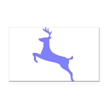leaping deer Rectangle Car Magnet