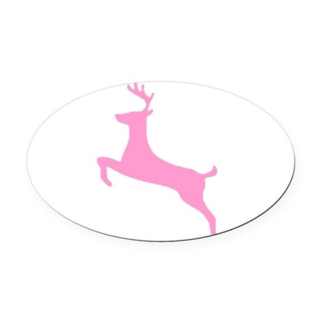 deer5.png Oval Car Magnet