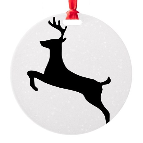 leaping deer Round Ornament