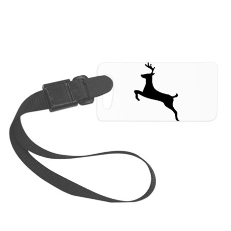 leaping deer Small Luggage Tag