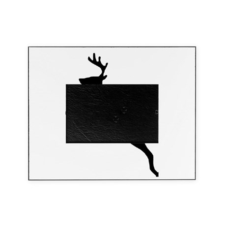leaping deer Picture Frame