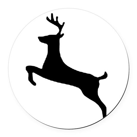 leaping deer Round Car Magnet