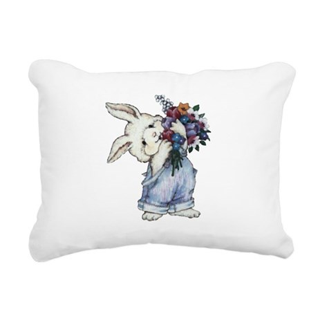 rabbit.png Rectangular Canvas Pillow