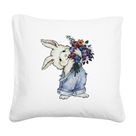 rabbit.png Square Canvas Pillow