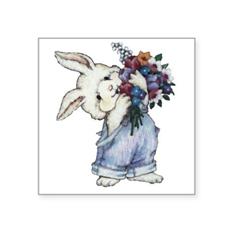 rabbit.png Square Sticker 3&quot; x 3&quot;