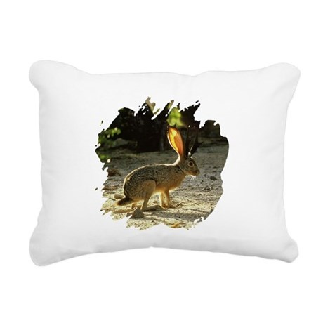 Jackolope1a.png Rectangular Canvas Pillow