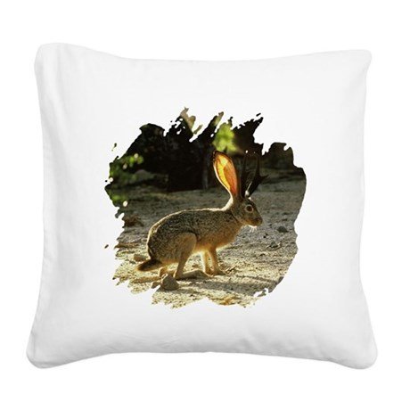 Jackolope1a.png Square Canvas Pillow