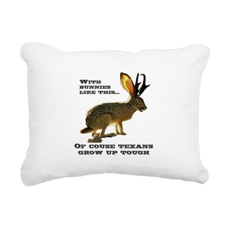 Jackolope9.png Rectangular Canvas Pillow