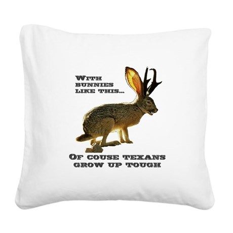 Jackolope9.png Square Canvas Pillow