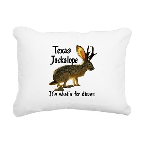 Jackolope6.png Rectangular Canvas Pillow