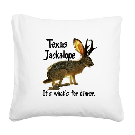 Jackolope6.png Square Canvas Pillow