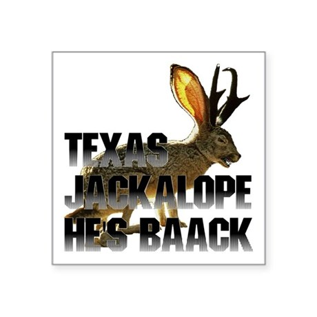 "Jackolope4a.png Square Sticker 3"" x 3"""