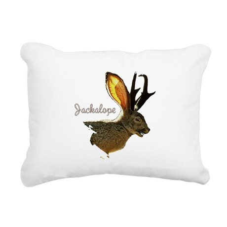 Jackolope8.png Rectangular Canvas Pillow