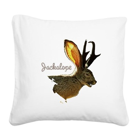 Jackolope8.png Square Canvas Pillow