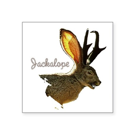 Jackolope8.png Square Sticker 3&quot; x 3&quot;