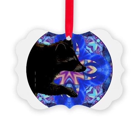 Racoon Kaleidoscope Picture Ornament