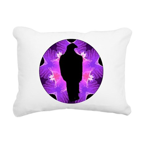 Eagle Kaleidoscope Rectangular Canvas Pillow