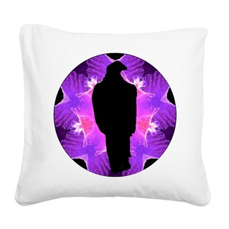 Eagle Kaleidoscope Square Canvas Pillow