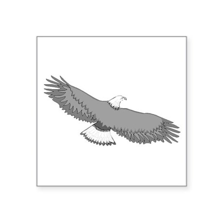 "eagle Square Sticker 3"" x 3"""