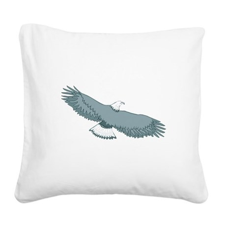 eagle Square Canvas Pillow