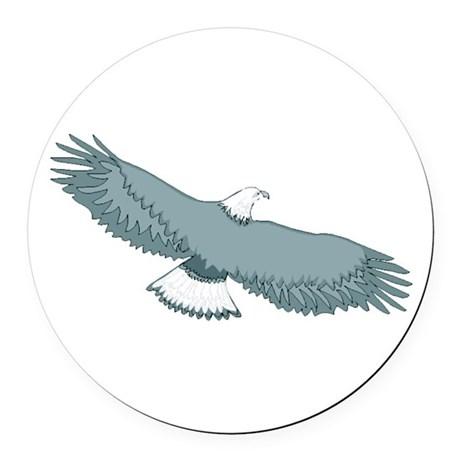 eagle Round Car Magnet