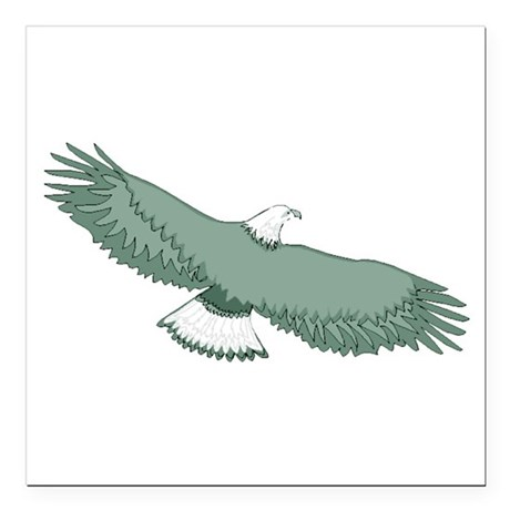 "eagle Square Car Magnet 3"" x 3"""