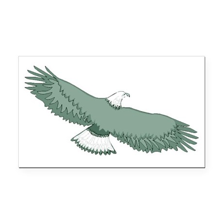 eagle Rectangle Car Magnet