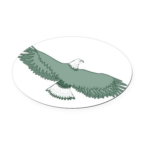 eagle Oval Car Magnet