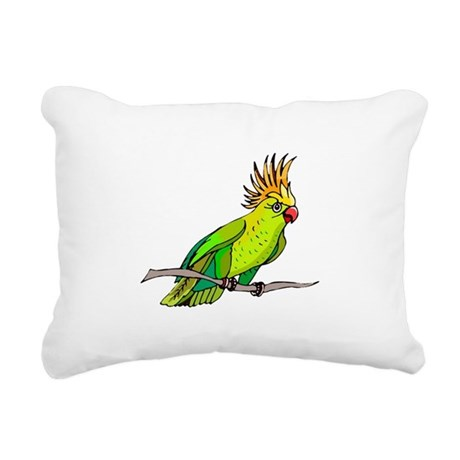 parrot Rectangular Canvas Pillow
