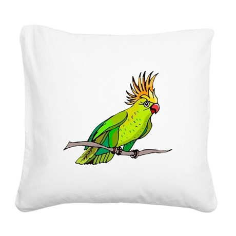 parrot Square Canvas Pillow