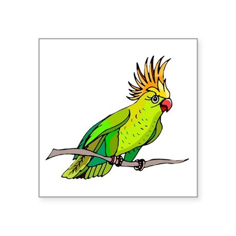 "parrot Square Sticker 3"" x 3"""