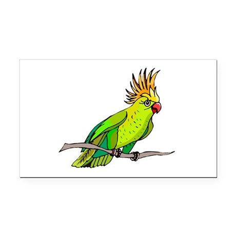 parrot Rectangle Car Magnet