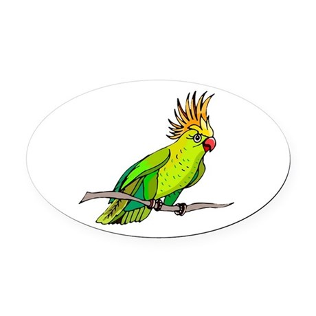 parrot Oval Car Magnet