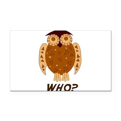 who owl Rectangle Car Magnet