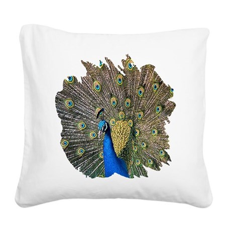 peacock.png Square Canvas Pillow
