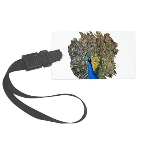 peacock.png Large Luggage Tag