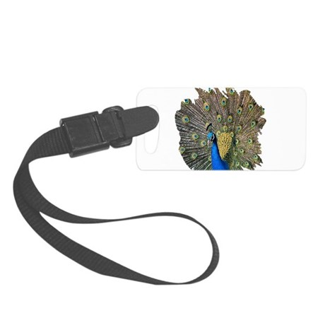 peacock.png Small Luggage Tag