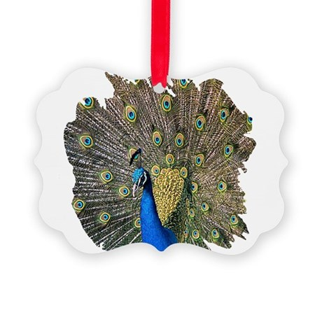 peacock.png Picture Ornament