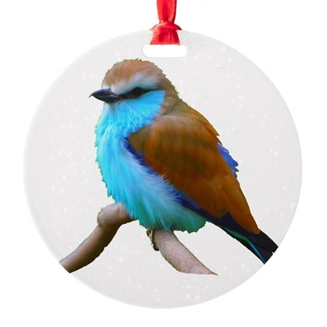 bluebird.png Round Ornament