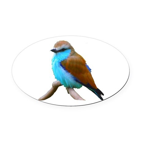 bluebird.png Oval Car Magnet