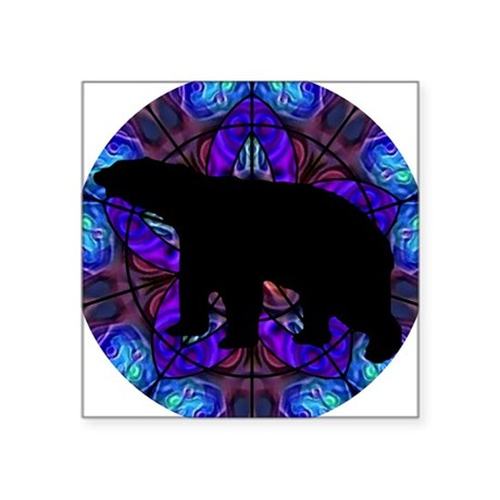 "bear Square Sticker 3"" x 3"""