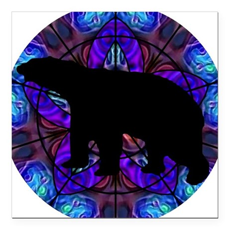 "bear Square Car Magnet 3"" x 3"""