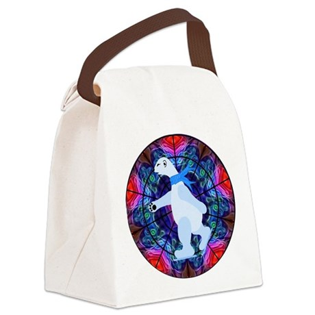 bearpolar1a.png Canvas Lunch Bag