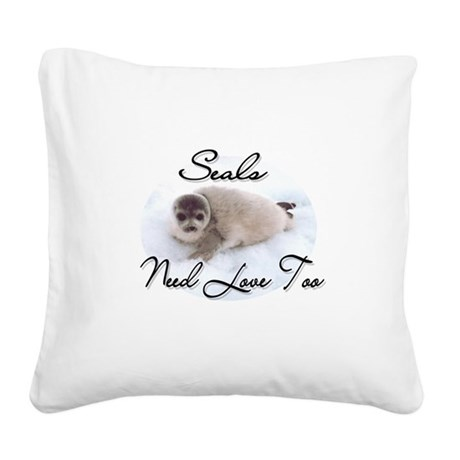 seal3.png Square Canvas Pillow