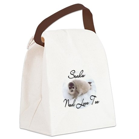 seal3.png Canvas Lunch Bag