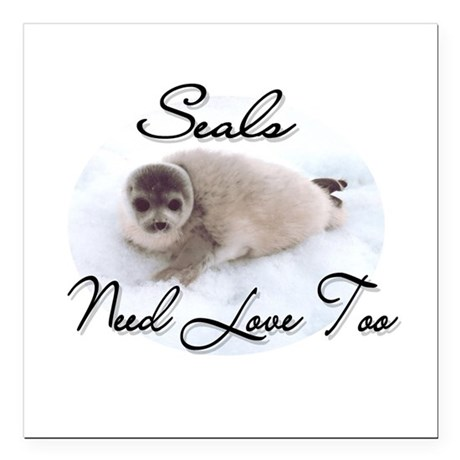 seal3.png Square Car Magnet 3&quot; x 3&quot;