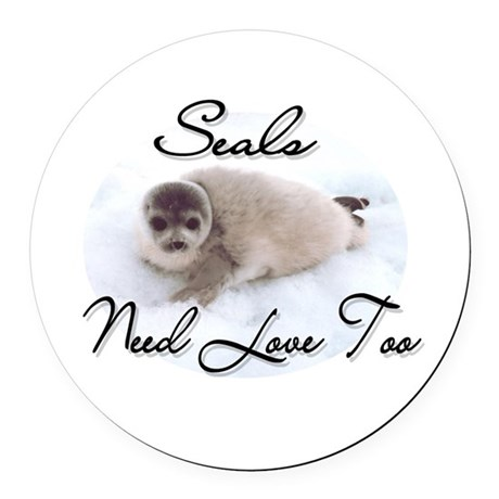seal3.png Round Car Magnet