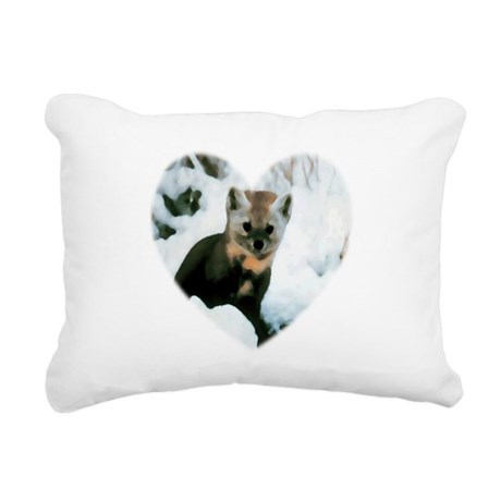 baby fox Rectangular Canvas Pillow